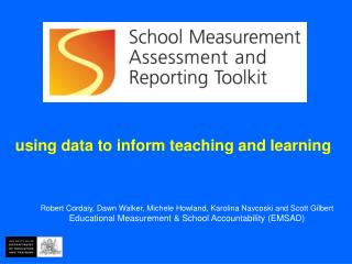 using data to inform teaching and learning