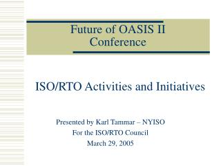 Future of OASIS II Conference