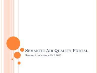 Semantic Air Quality Portal