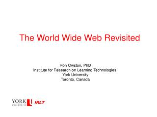 The World Wide Web Revisited