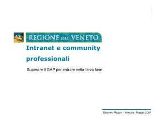 Intranet e community professionali