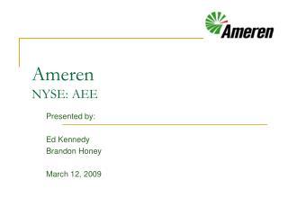 Ameren NYSE: AEE