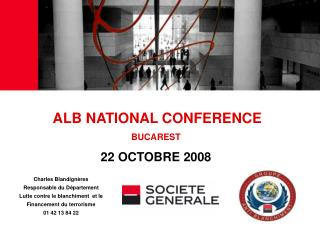 ALB NATIONAL CONFERENCE BUCAREST 22 OCTOBRE 2008