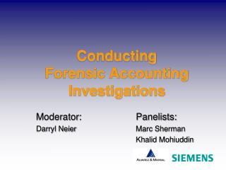 Conducting  Forensic Accounting Investigations
