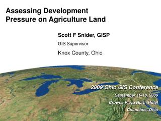 Assessing Development  Pressure on Agriculture Land
