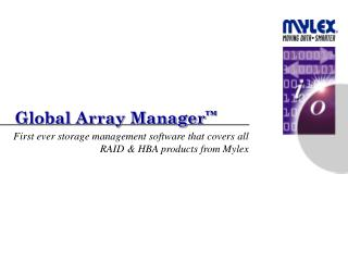 Global Array Manager ™