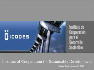 Institute of Cooperation for Sustainable Development