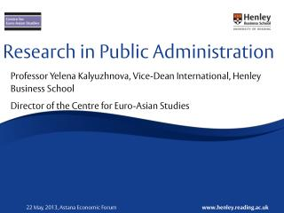 Research in Public Administration