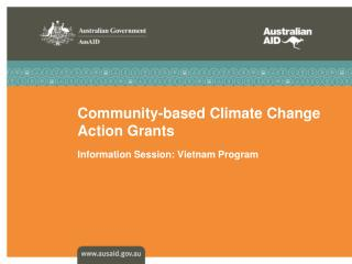 Community-based Climate Change Action Grants