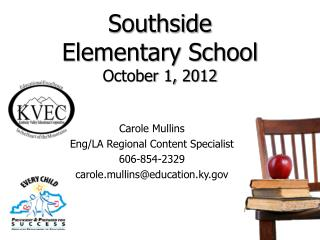 Southside  Elementary School  October 1,  2012