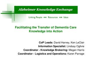 Facilitating the Transfer of Dementia Care Knowledge into Action