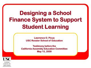 Designing a School  Finance System to Support Student Learning