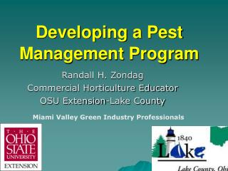 Developing a Pest Management Program