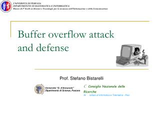 Buffer overflow attack and defense