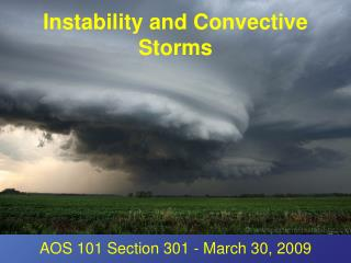 Instability and Convective Storms