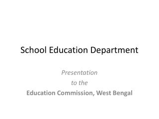 School Education Department