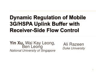 Dynamic Regulation of Mobile 3G/HSPA Uplink Buffer with Receiver-Side Flow Control