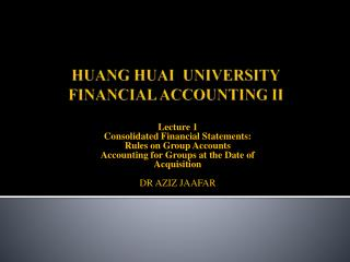 HUANG HUAI  UNIVERSITY FINANCIAL ACCOUNTING II