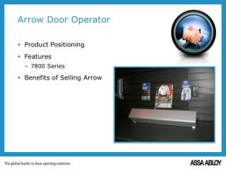 Arrow Door Operator