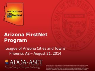 Arizona FirstNet Program