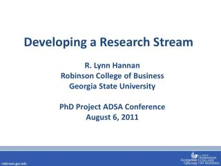 Developing a Research Stream