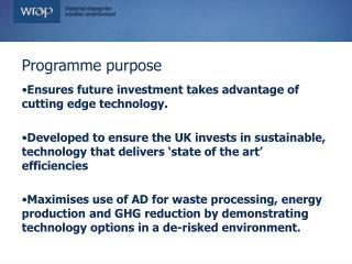 Programme purpose