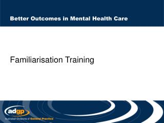 Better Outcomes in Mental Health Care
