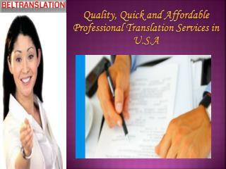 Quick and Affordable Professional Translation Services