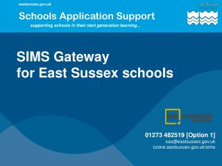 SIMS Gateway for East Sussex schools