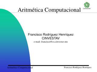 Aritmética Computacional