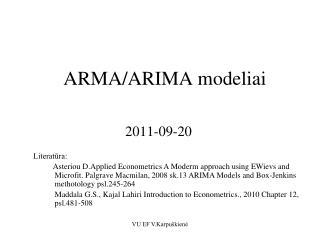 ARMA/ARIMA modeliai