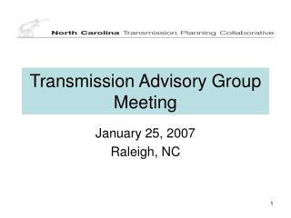 Transmission Advisory Group Meeting