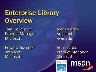 Enterprise Library Overview