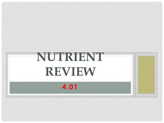 Nutrient Review