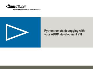 Python remote debugging with your ADDM development VM
