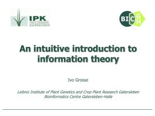 An intuitive introduction to information theory