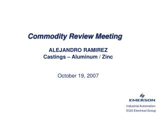Commodity Review Meeting