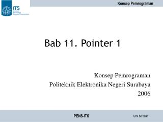 Bab 11. Pointer 1