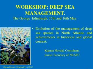 WORKSHOP: DEEP SEA MANAGEMENT. The George  Edinburgh, 15th and 16th May.