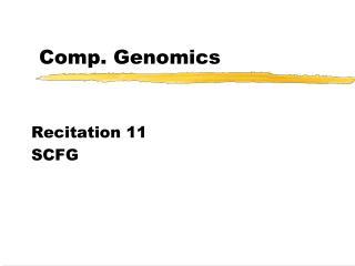 Comp. Genomics