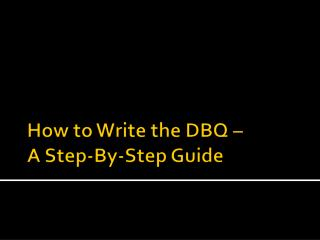 How to Write the DBQ – A Step-By-Step Guide