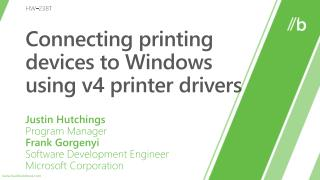 Connecting printing devices to Windows using v4 printer drivers