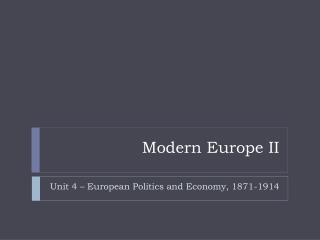 Modern Europe II