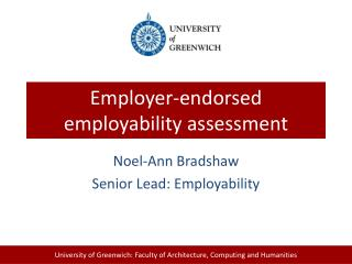 Employer-endorsed employability  assessment