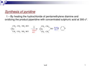 Synthesis of pyridine