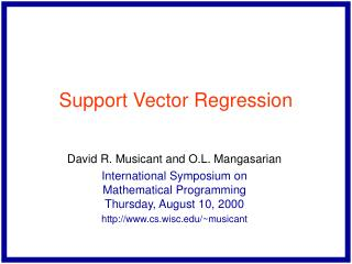 Support Vector Regression