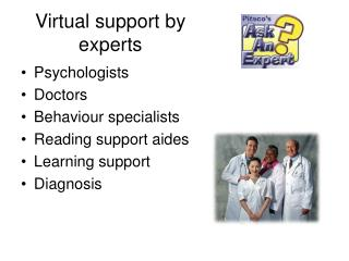 Virtual support by experts