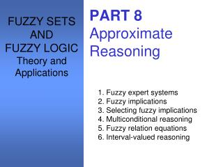 PART 8 Approximate Reasoning