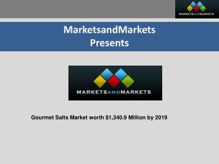 Gourmet Salts Market - Global Trend & Forecast to 2019