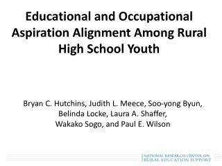 Educational and Occupational Aspiration Alignment Among Rural High School Youth